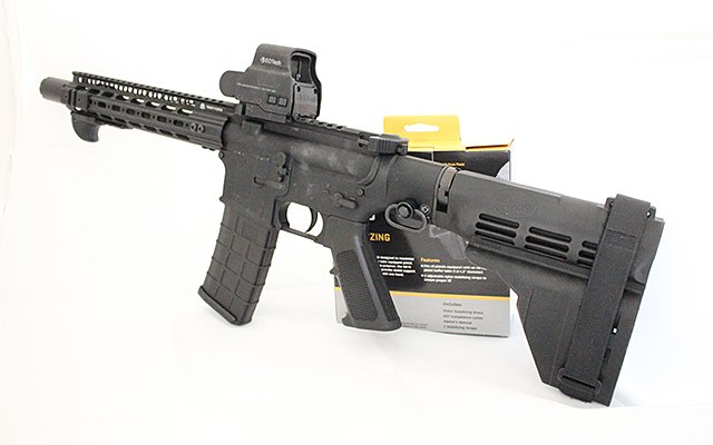 The SB-15 Sig Brace was banned for shouldering by the ATF.