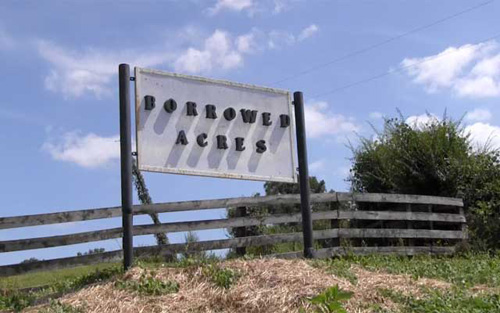 Borrowed Acres Sign