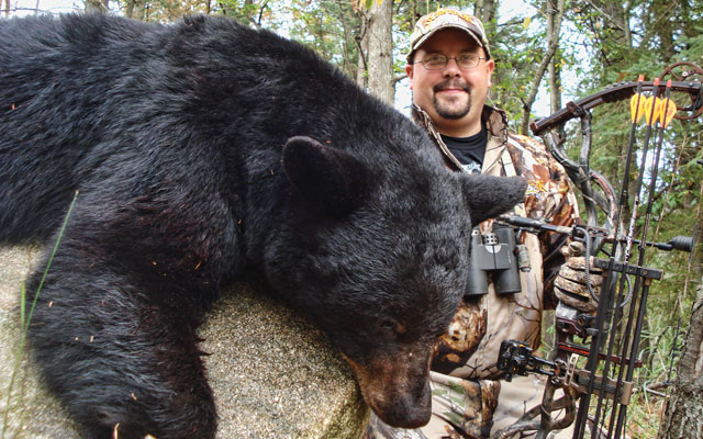 Toby Shaw bowhunting black bear