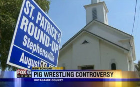 Church Pig Wrestling Event Draws Ire From PETA